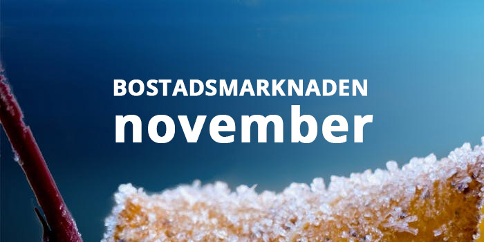 Bostadsmarknaden i november månad