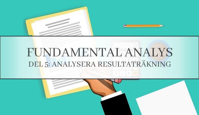 Analysera resultaträkning