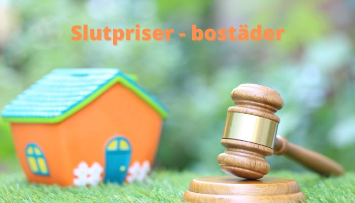 slutpriser hus och bostadsrätter