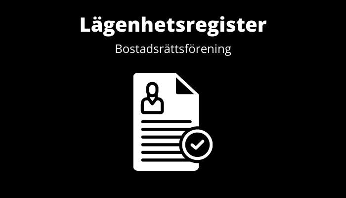 Lägenhetsregister bostadsrättsförening