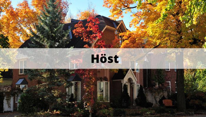 Sälja bostad under hösten