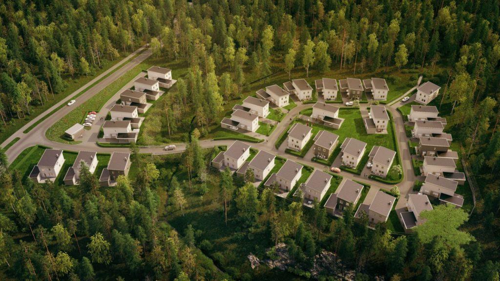 fristående bostadsrättsvillor