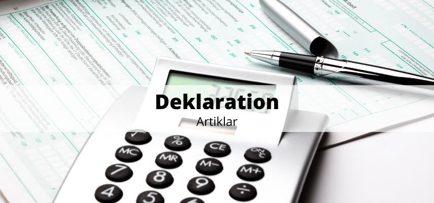 Deklaration bostad artiklar
